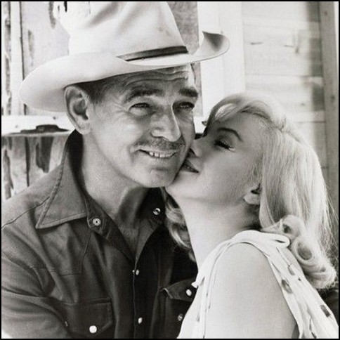 Clark Gable y Marilyn Monroe