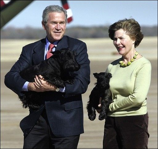 George W Bush y Laura Welch