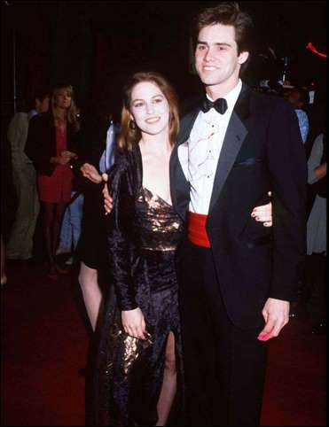 Melissa Womer y Jim Carrey
