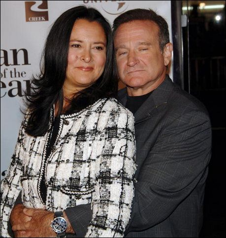 Robin Williams y su segunda esposa Marsha Garces